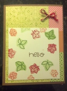 Hello - triple stamping