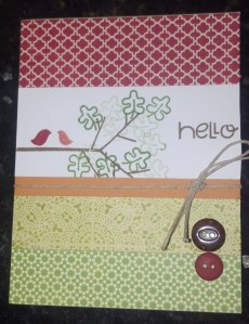 Hello - stamping off